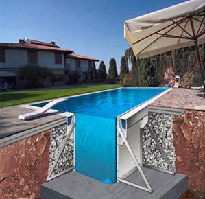 Officina Dolcevita progettazione realizzazione piscine interrate in acciaio con tecnologia ...